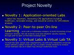 project novelty