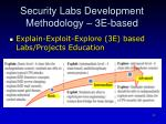 security labs development methodology 3e based