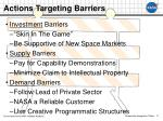 actions targeting barriers