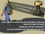 small group study of the parables