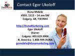 contact egor ukoloff