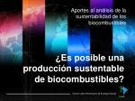 aportes al an lisis de la sustentabilidad de los biocombustibles