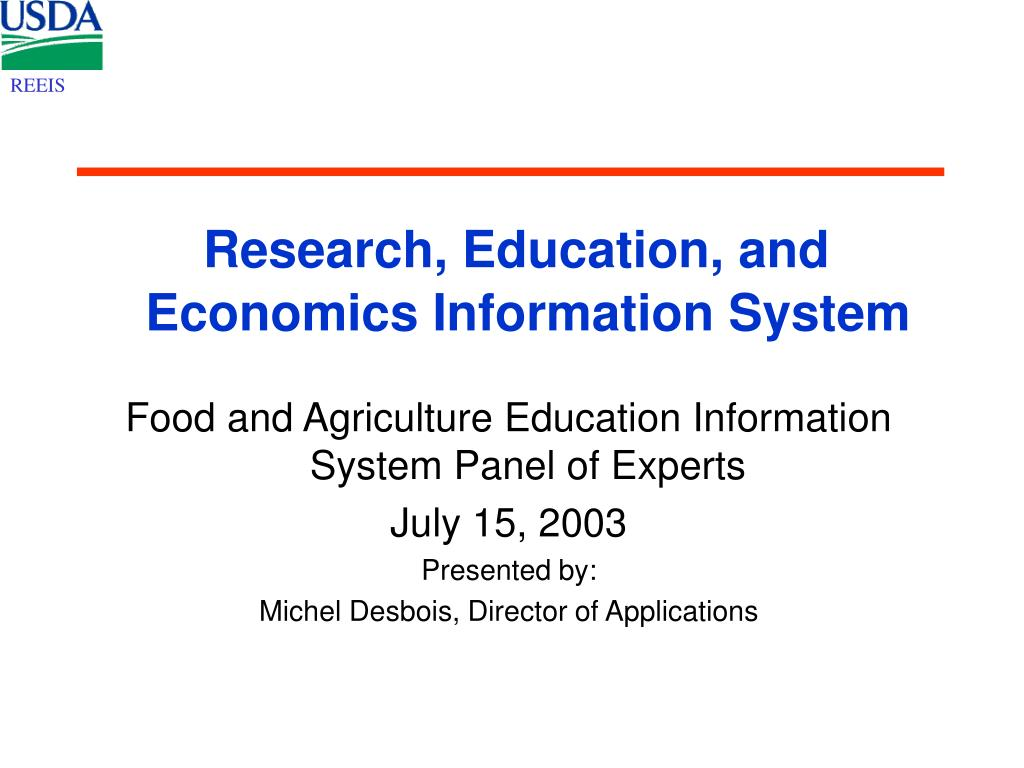PPT - Research, Education, and Economics Information ...