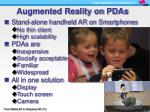 augmented reality on pdas