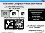 real time computer vision on phones