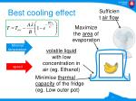 best cooling effect