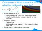 conclusion what should the most effective refrigerator look like