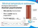 minimal temperature e stimation