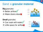 sand a granular material