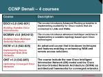 ccnp denali 4 courses