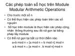 c c ph p to n s h c tr n module modular arithmetic operations