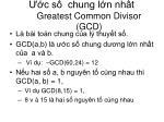 c s chung l n nh t greatest common divisor gcd