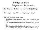 s h c a th c polynomial arithmetic