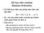 s h c tr n module modular arithmetic1