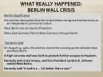 what really happened berlin wall crisis