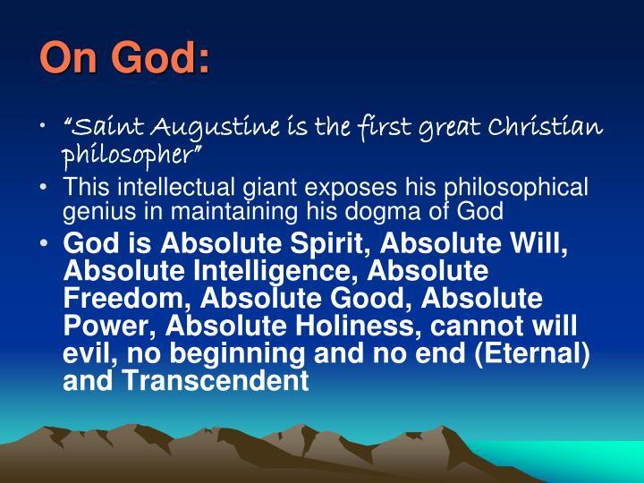 On God: