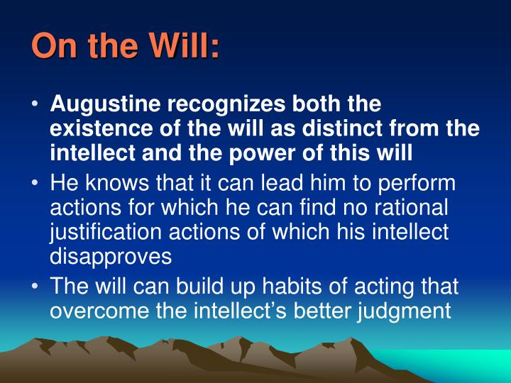 On the Will:
