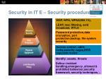 security in it e security procedures