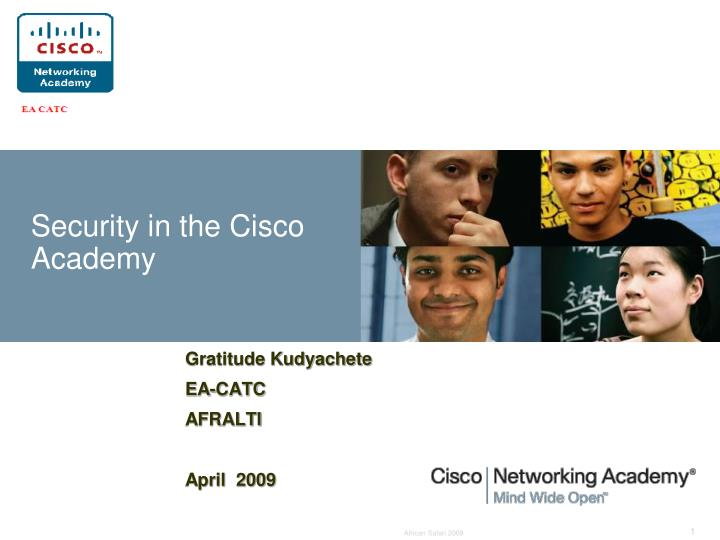 security in the cisco academy n.