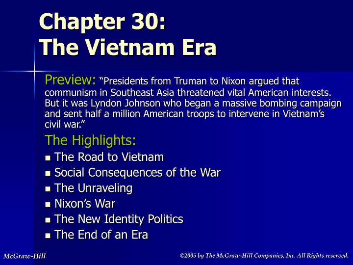 chapter 30 the vietnam era n.