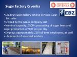 sugar factory crvenka