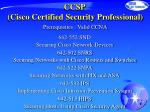 ccsp cisco certified security professional