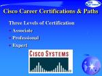 cisco career certifications paths