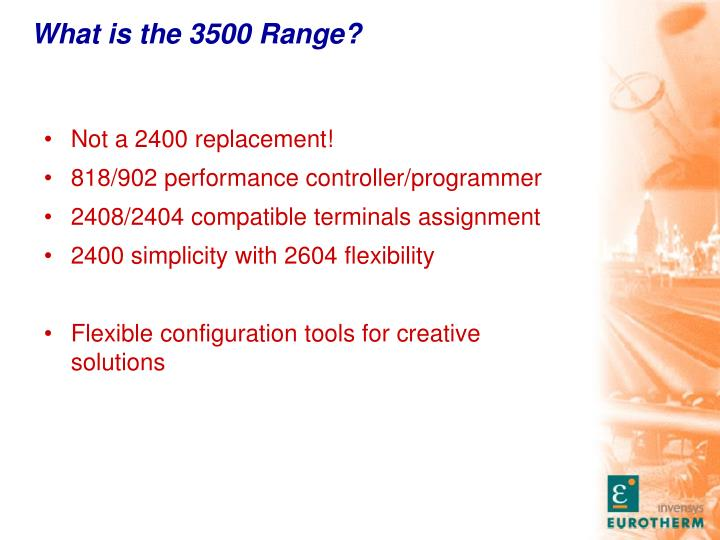 What is the 3500 range