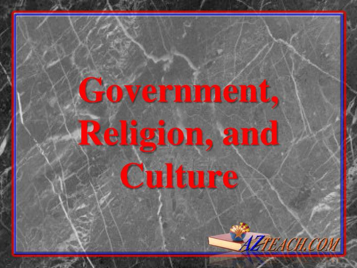 government religion and culture n.