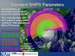 standard ships parameters