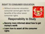 right to consumer education