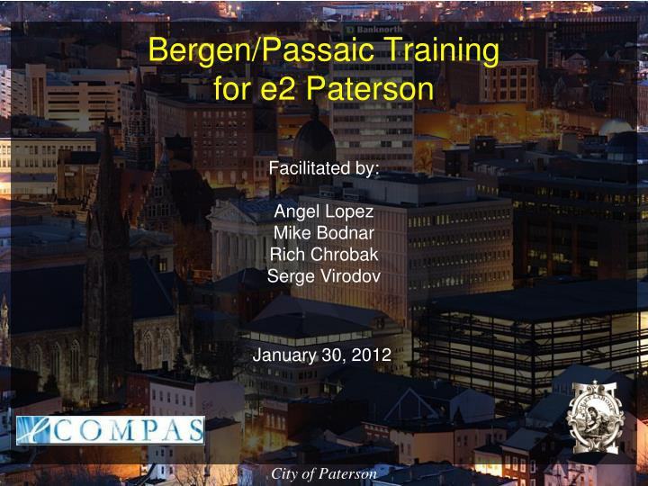 bergen passaic training for e2 paterson n.
