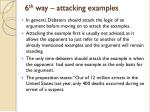 6 th way attacking examples