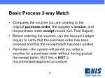 basic process 3 way match