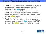 breakout session instructions 30 minutes