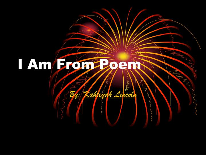 i am from poem n.