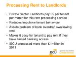 processing rent to landlords