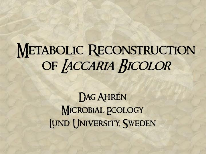 metabolic reconstruction of laccaria bicolor n.