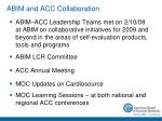 abim and acc collaboration