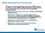 abim maintenance of certification