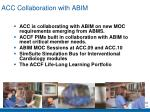 acc collaboration with abim
