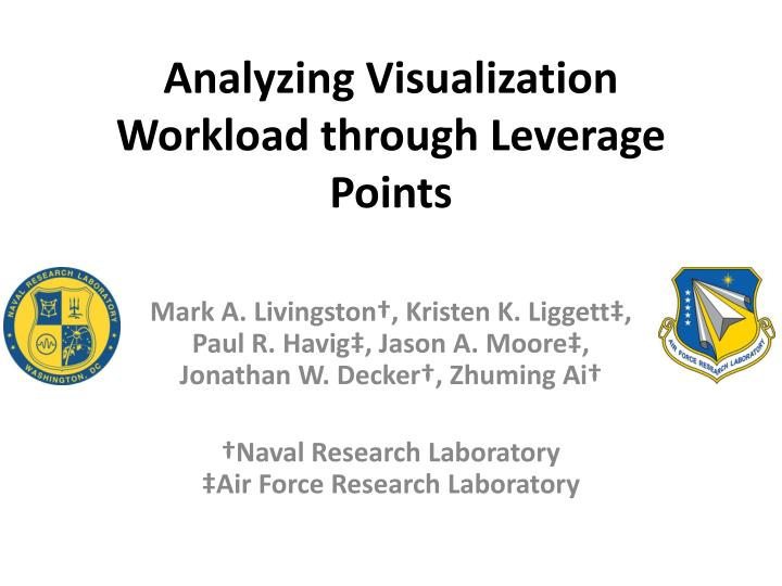 analyzing visualization workload through leverage points n.