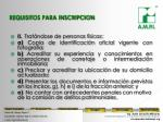 requisitos para inscripcion1