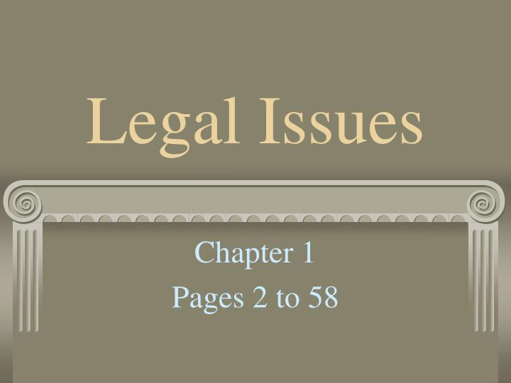 legal issues n.