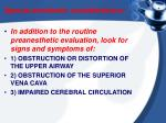 special anesthetic considerations
