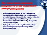 the vessel most commonly compressed is the innominate artery management