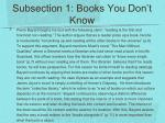 subsection 1 books you don t know