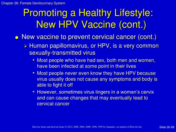 Promoting a Healthy Lifestyle: New HPV Vaccine