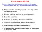 uses of ocean profile data