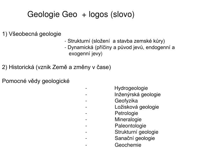 Geologie Geo  + logos (slovo)